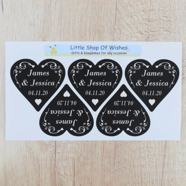 Personalised Wedding Stickers Ebay