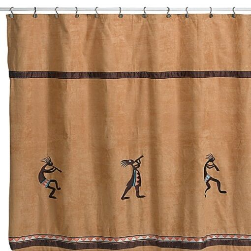 Avanti Linens Kokopelli Shower Curtain Towel Set Rug Gold | eBay