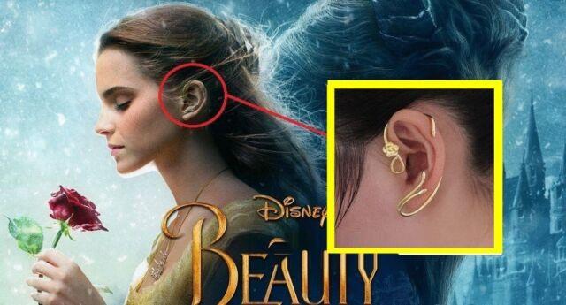 beauty and the beast earrings ear cuff jewelry gold