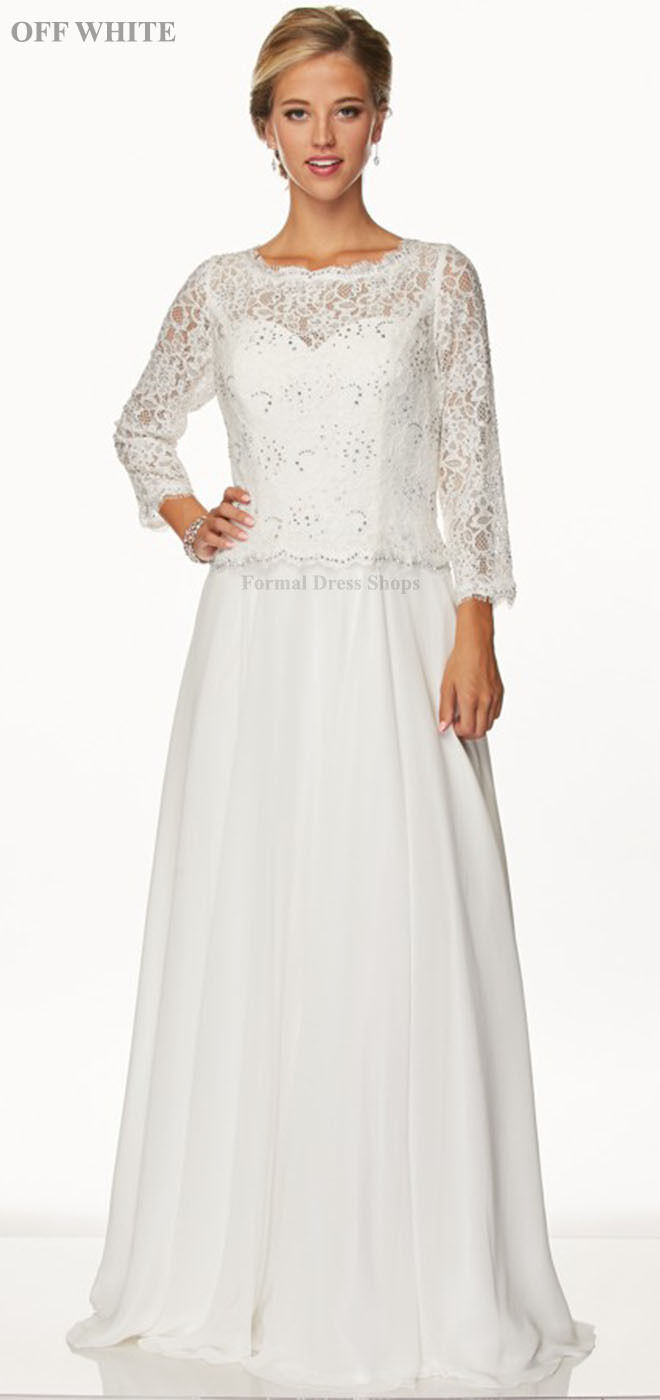 Mother of The Bride Groom Dress 3/4 Sleeve Formal Evening Gowns ...