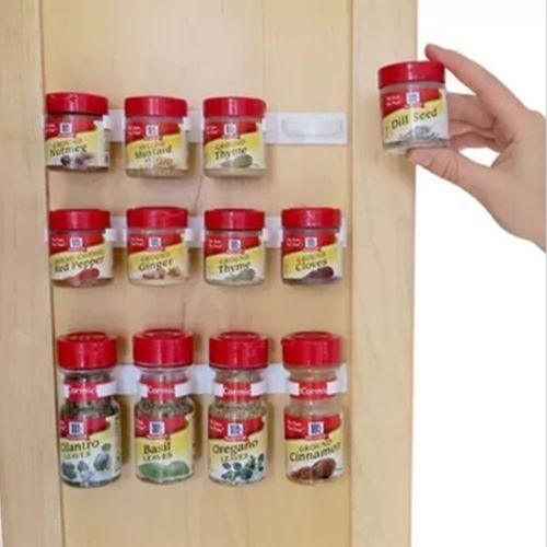 Spice Wall Rack Storage Plastic Kitchen Organizer 10 Cabinet Door
