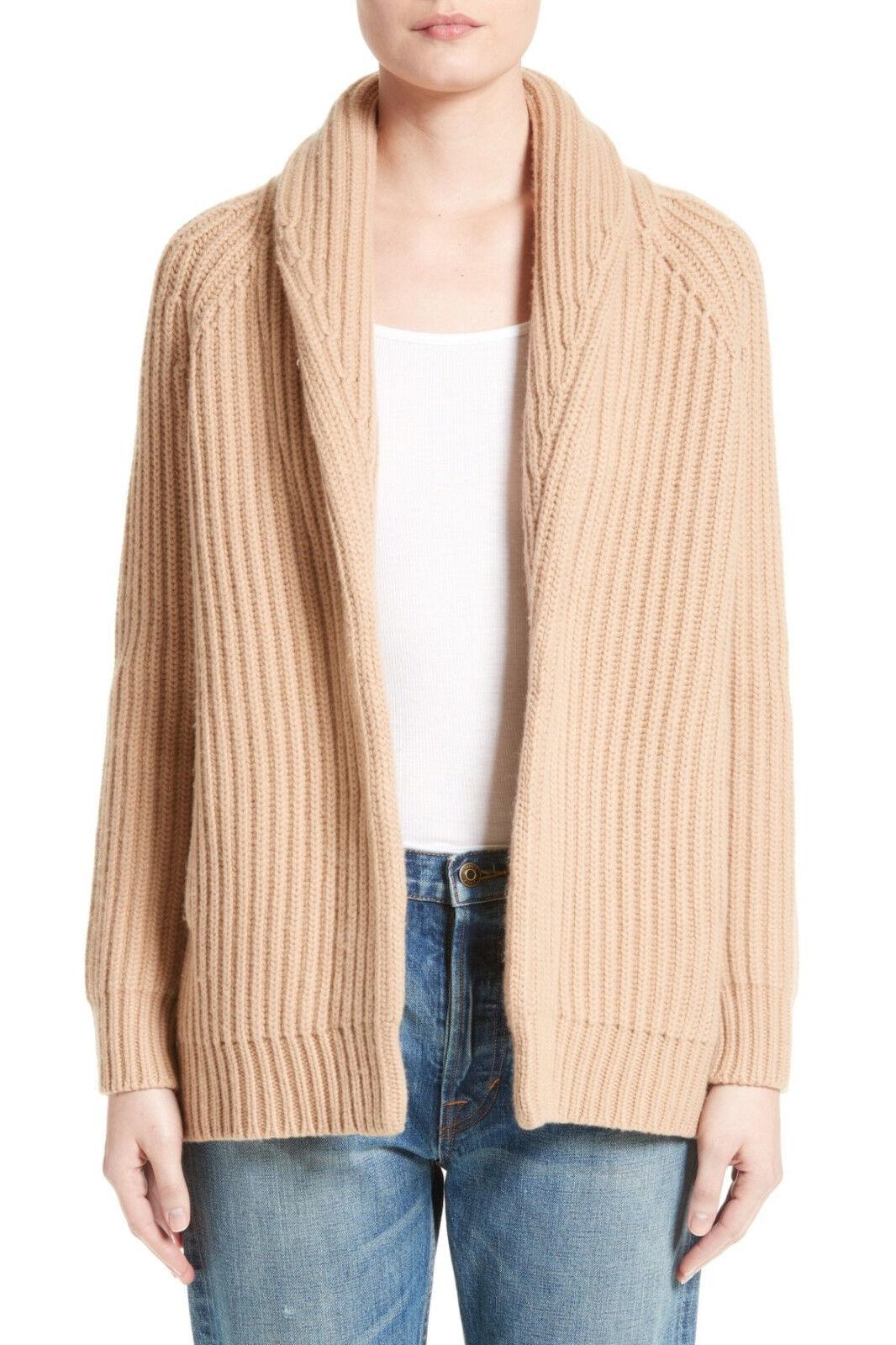 V810 Vince Rib Wool Cashmere Car Coat Women Cardigan Size M   eBay