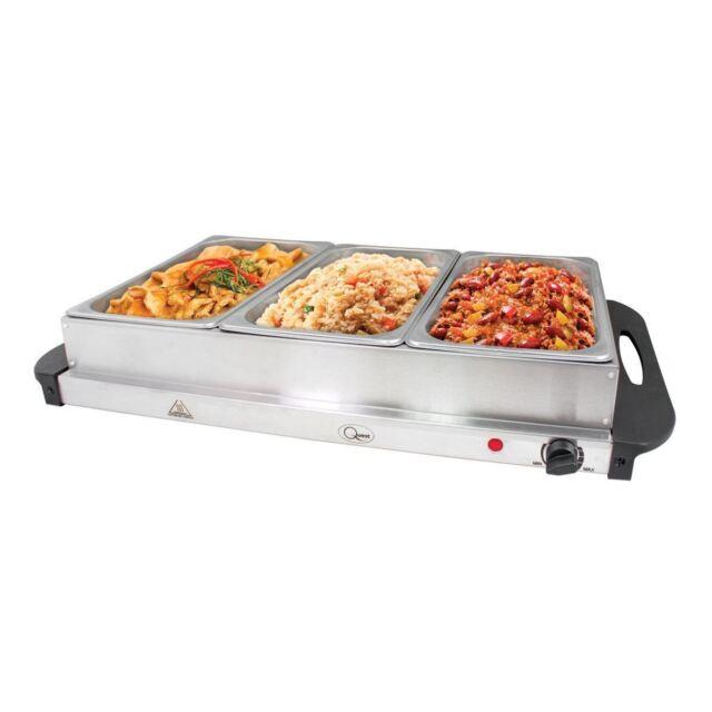 Electric Food Warmers Buffet ~ Quest buffet server hotplate with sections watt ebay