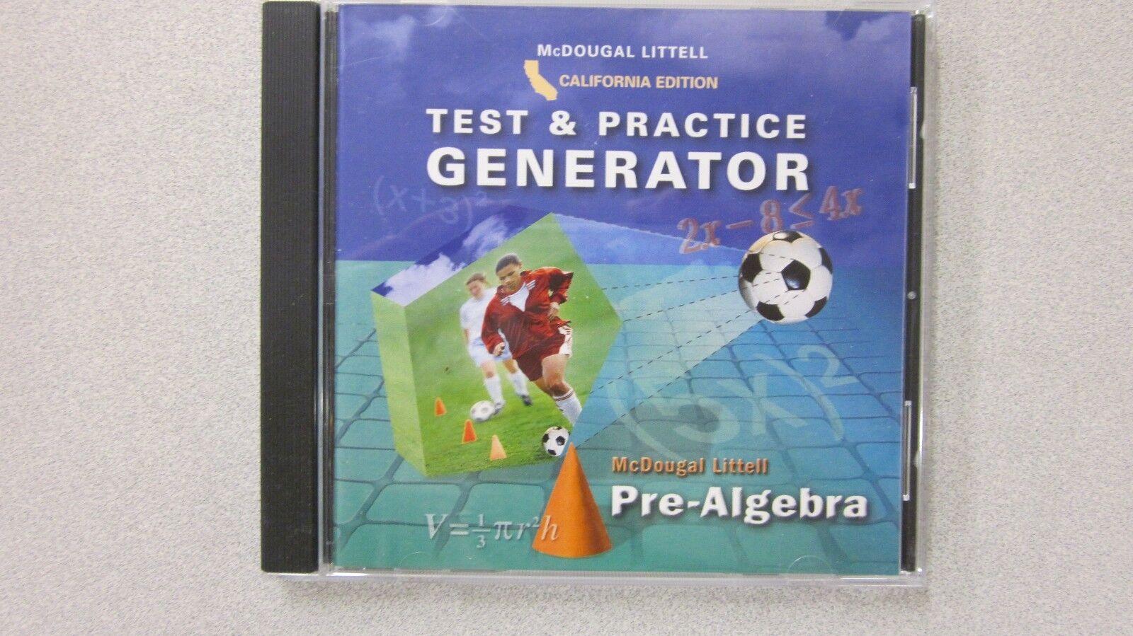 McDougal Littell Pre-algebra California Test & Practice Gernerator ...