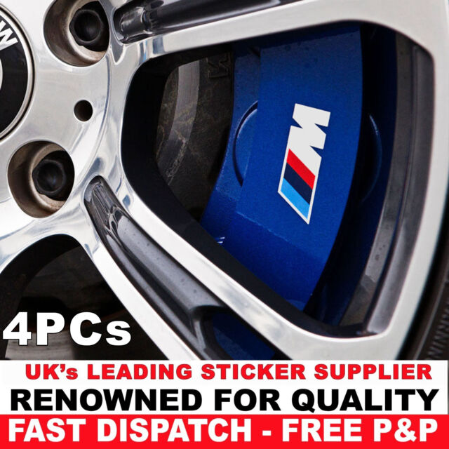 BMW M Power Hi Temp Premium Brake Caliper Decals Stickers Cast - Bmw brake caliper decals