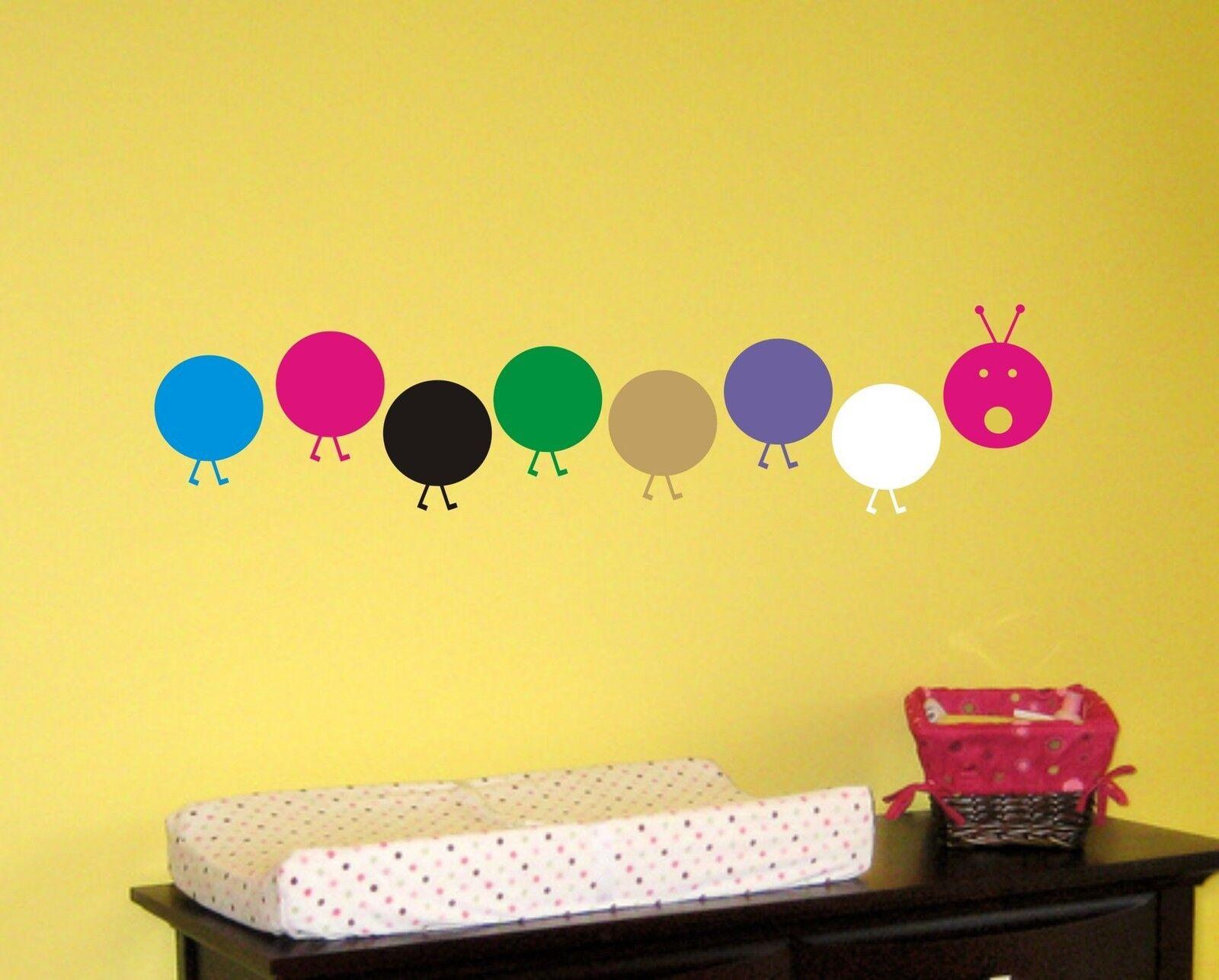 Caterpillar Wall Decal Kids Sticker Art Decor Removable Mural ...