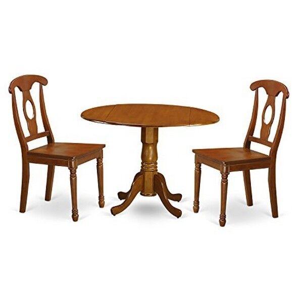 picture 1 of 1 east west furniture 3pc kitchen nook dining table set saddle brown      rh   ebay com