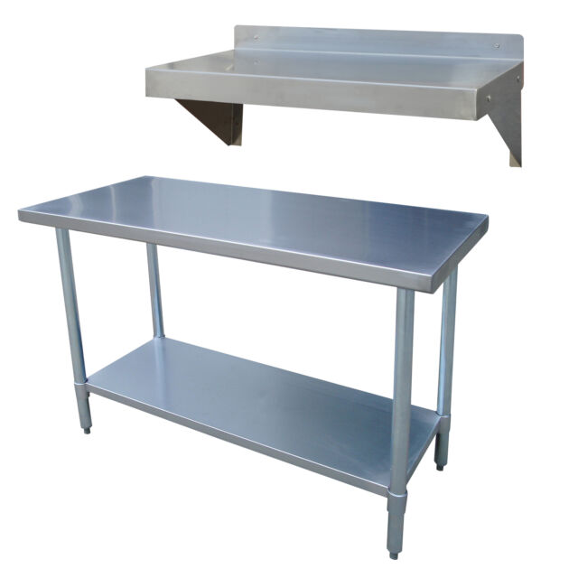 sportsman stainless steel kitchen utility table with work shelf ebay