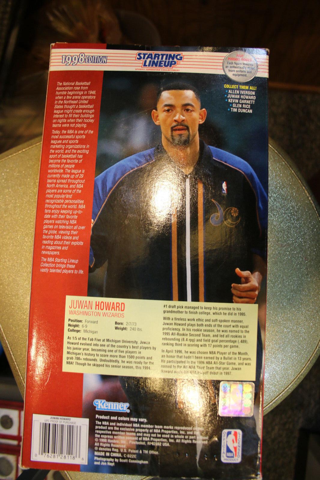 1998 NBA Starting Lineup Juwan Howard 12 Action Figure Washington
