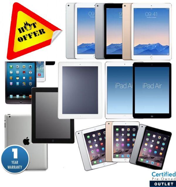 Apple iPad 1/2/3/4,Air,mini,Pro 9.7/12.9 |16GB/32GB/64GB/128GB WARRANTY