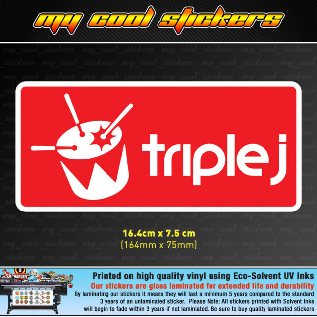 Triple j vinyl sticker decal jjj 4x4 ute car truck toolbox window drum