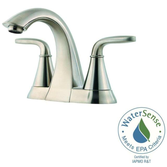 4 inch center bathroom faucet. Pfister LF048PDKK Pasadena 4 Inch Centerset Bathroom Faucet Brushed Nickel  D1