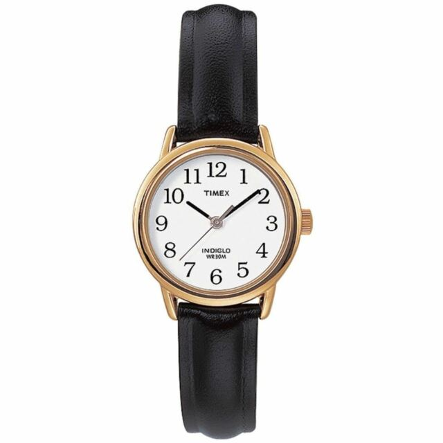 Timex T20433 Womens Easy Reader Leather Strap Analogue Watch New
