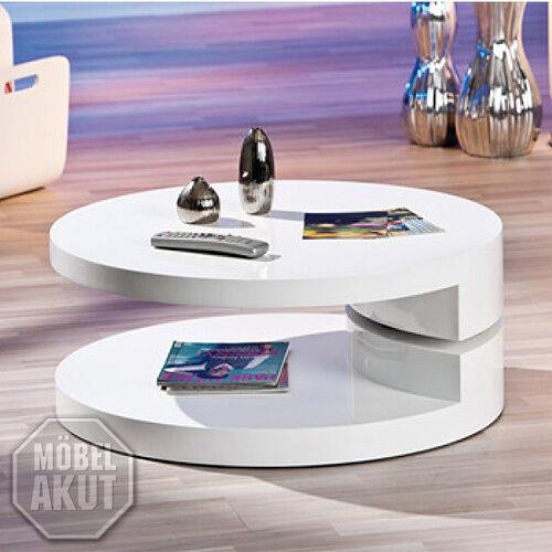 links 20800930 Couchtisch Rotondi drehbar rund weiß | eBay