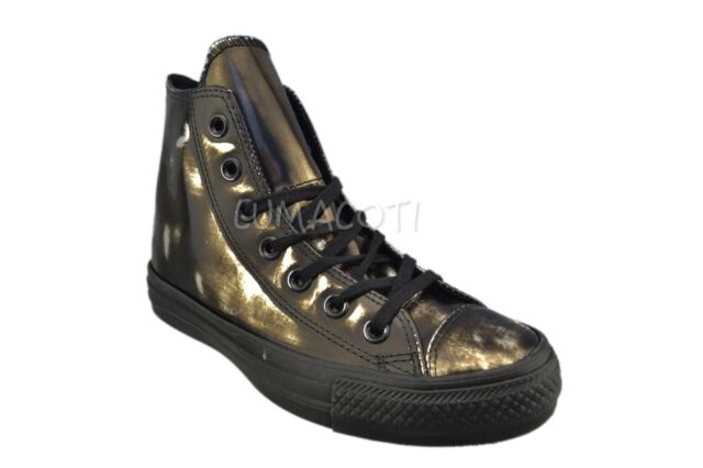 black leather high top converse womens