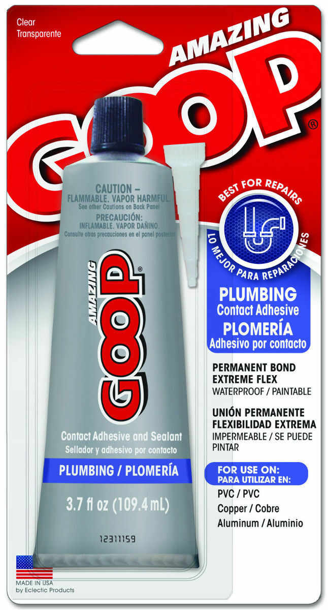 Eclectic Products 150011 Plumbing GOOP Glue Adhesive Sealant 3.7oz ...