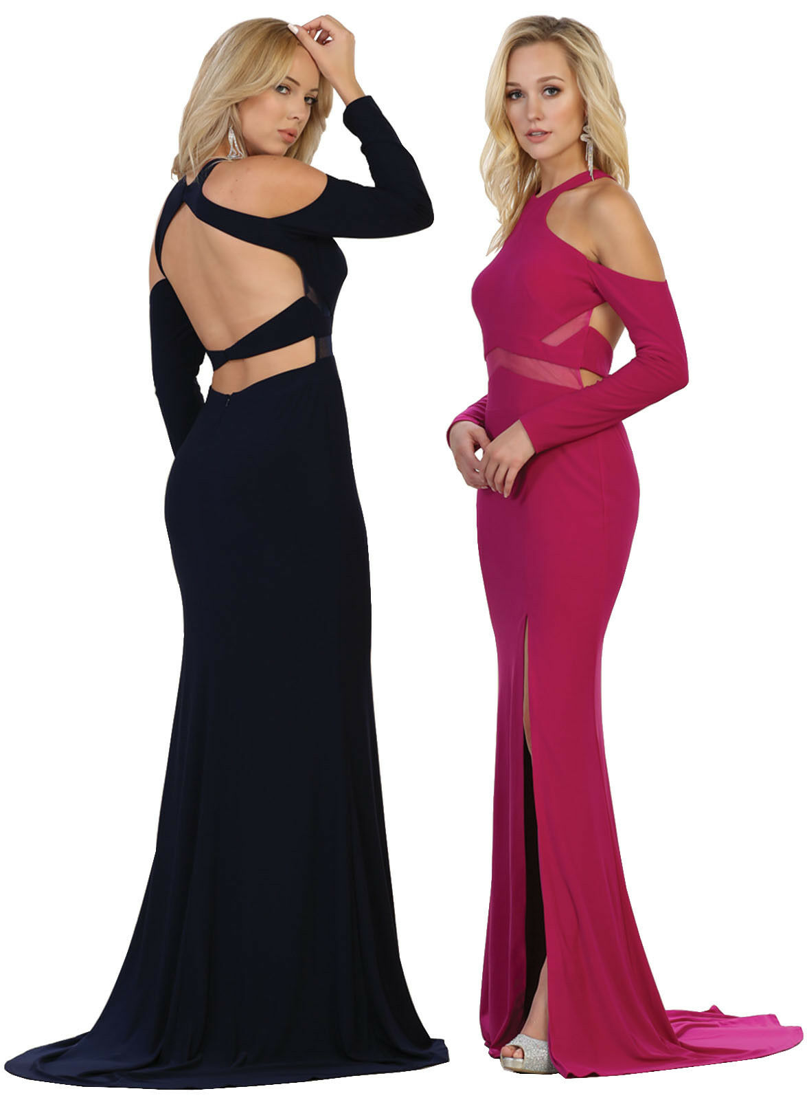 Long Sleeve Stretchy Lace Dress Red Carpet Prom Party Formal Evening ...