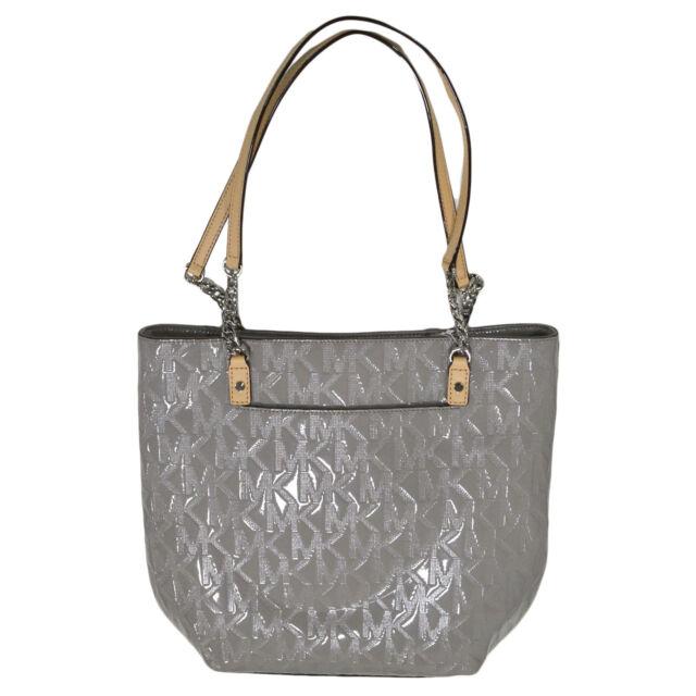 Michael Kors Handbag Jet Set Chain Item Ns Tote Ash Grey 38t3xjst3o Purse New
