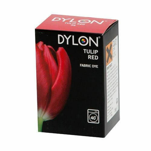 DYLON FABRIC DYE in Tulip Red for Brilliant & Permanent Results 200g  2448