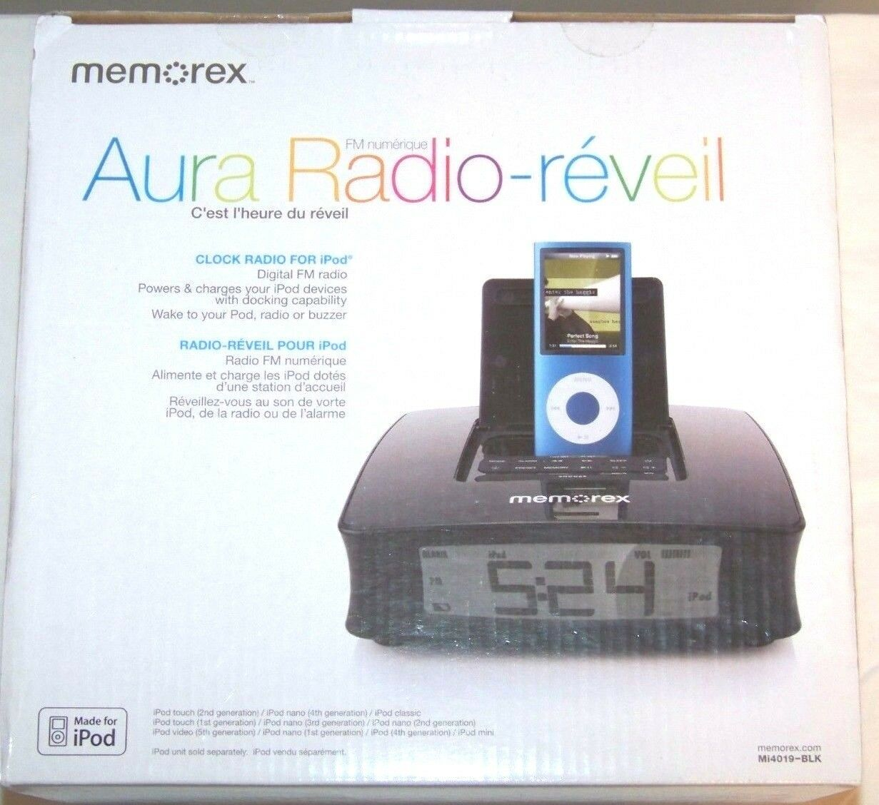 memorex mi4390blk clock radio for ipod ebay rh ebay com