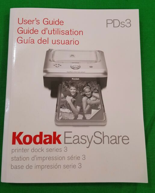 kodak easyshare printer dock 3 manual user s guide pds3 ebay rh ebay com kodak easyshare printer dock plus series 3 manual Digital Printer