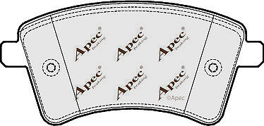 FRONT BRAKE PADS FOR RENAULT KANGOO BE BOP GENUINE APEC PAD1656