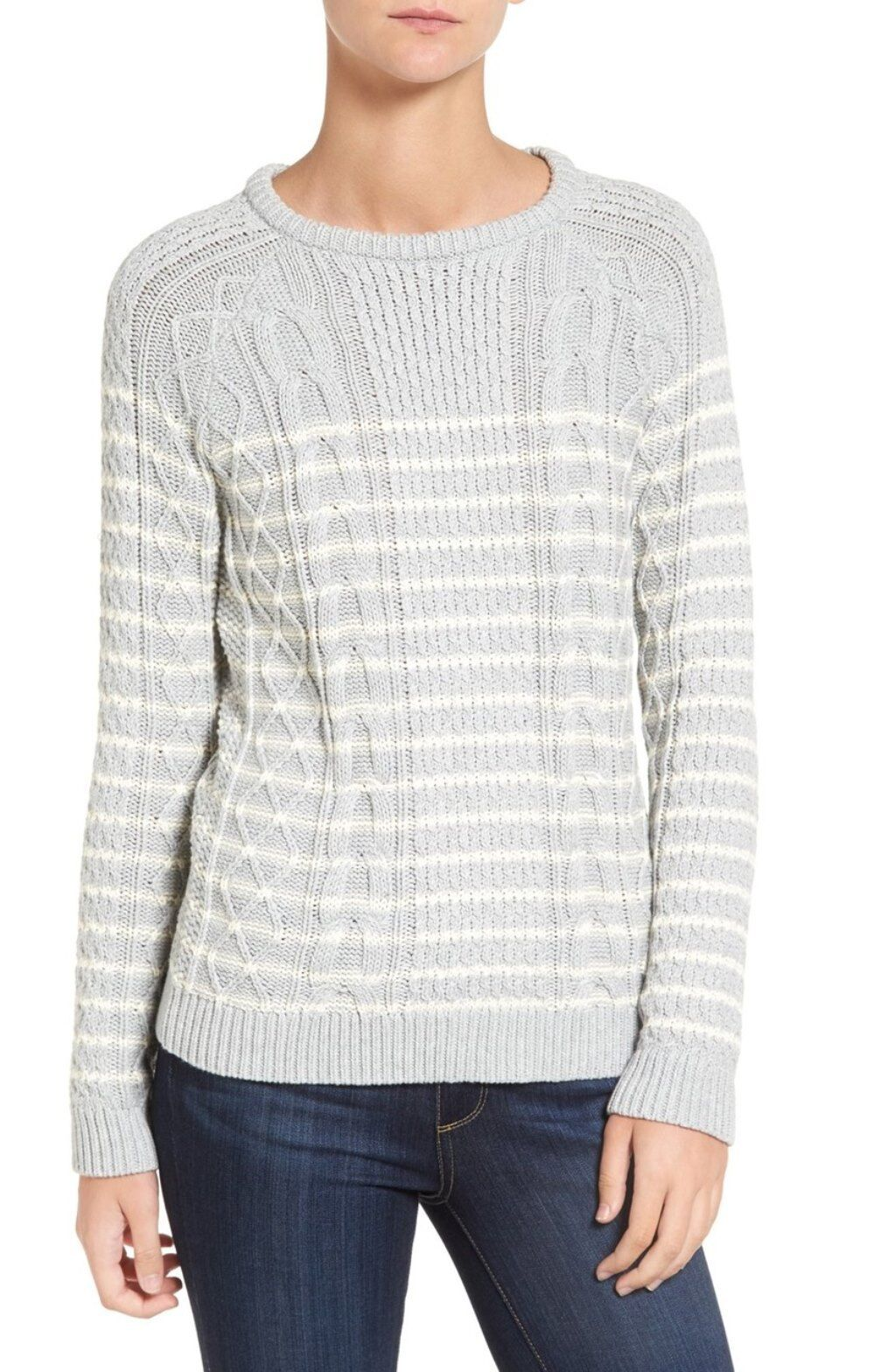 Vineyard Vines Women's Cotton Stripe Cable Sweater With Tags ...