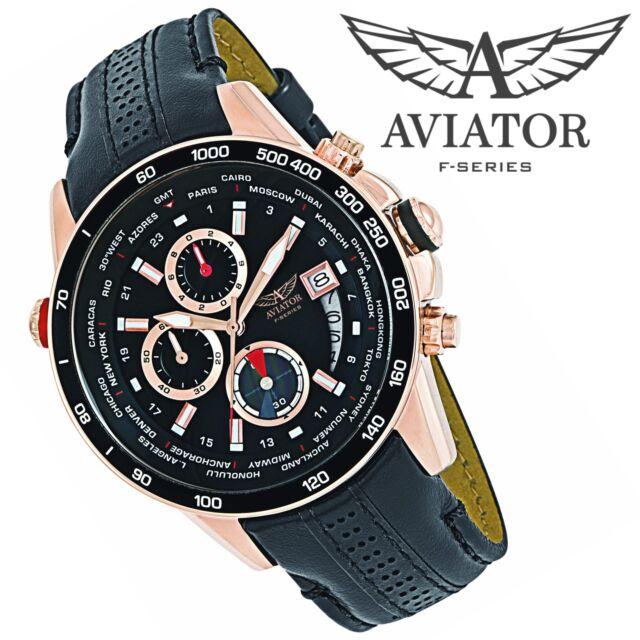 aviator wrist watch avw8974g76 men 39 s cronograph pilot. Black Bedroom Furniture Sets. Home Design Ideas