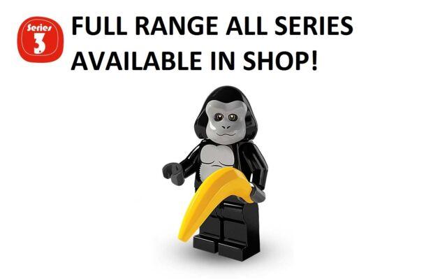Lego minifigures gorilla suit guy series 3 (8803) unopened new factory sealed