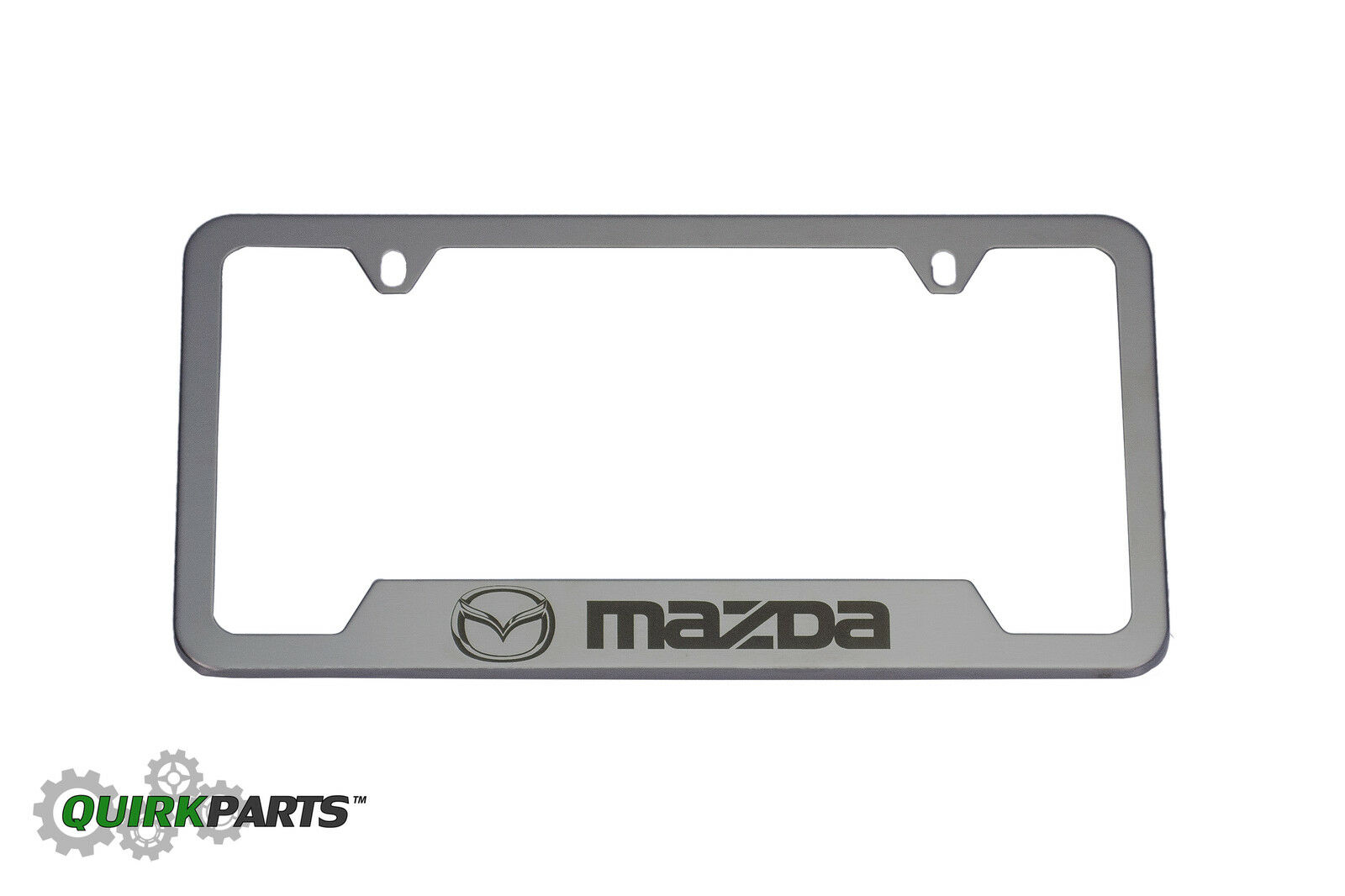 Mazda OEM Brushed Stainless Steel License Plate Frame | eBay