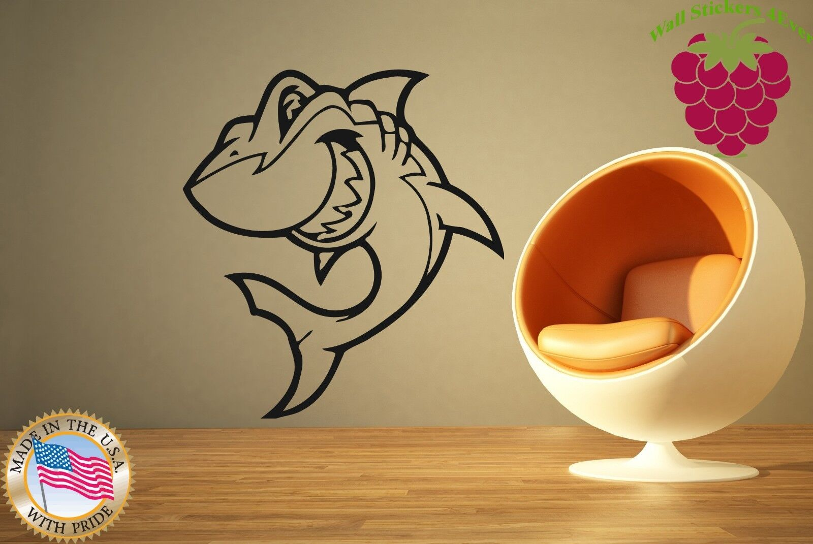 Wall Stickers Vinyl Decal Shark For Bathroom Animal Ocean Predator