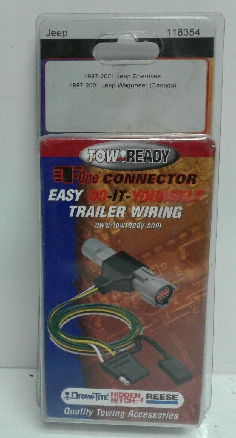 Trailer Wiring Harness For 2001 Jeep Cherokee Trusted Diagram Grand Wagoneer Connector Kit Tow Towready 118354 Fits 97 01 95