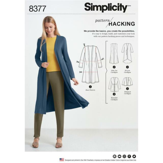 Simplicity Sewing Pattern 8377 Knit Cardigan With Design Hacking