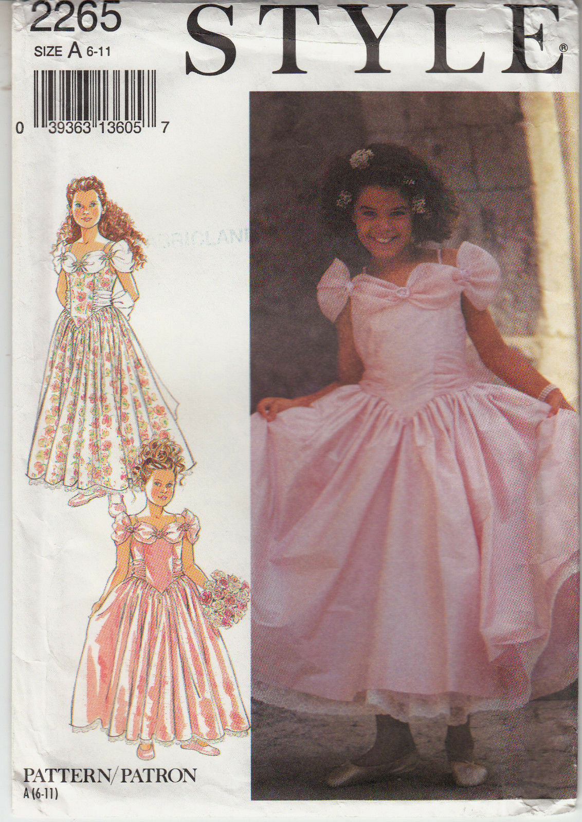 Girls bridesmaid dress flower girl full skirt style sewing pattern picture 1 of 4 ombrellifo Images