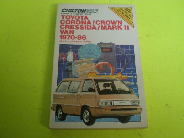 chilton s toyota corona crown cressida mark ii camry 1970 1986 by rh ebay com Toyota Corona 1990 1974 Toyota Corona