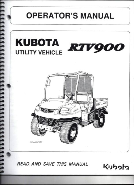 Kubota rtv x1100c parts manual