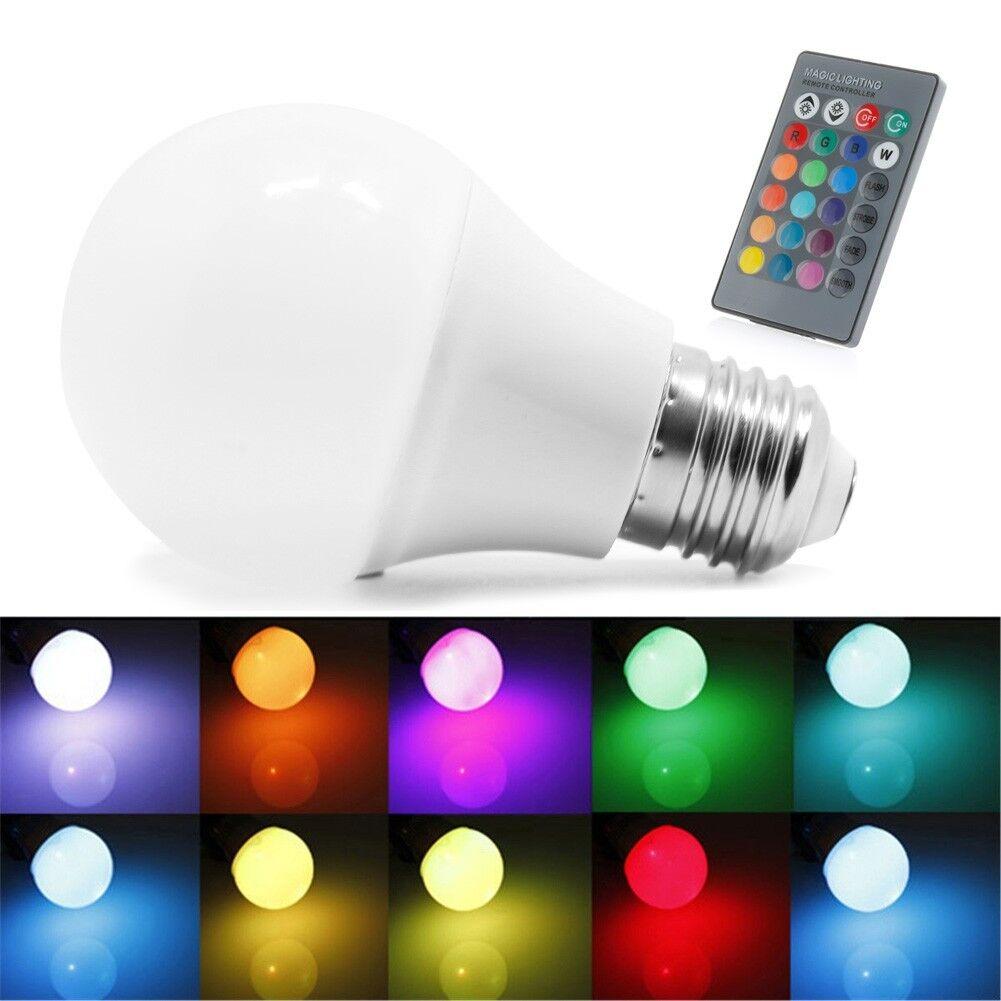 85 265v 10/15w E27 RGB LED Light Color Change Lamp Bulb Remote Control 10w  | EBay