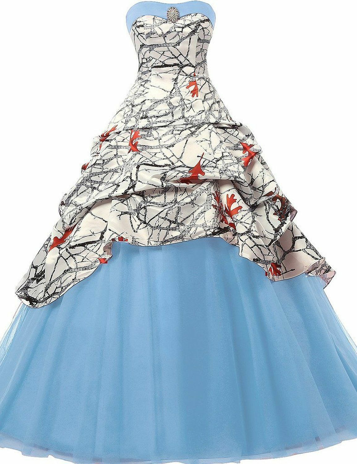 2018 Realtree White Camo Wedding Dresses Tulle Ball Gown Bridal ...