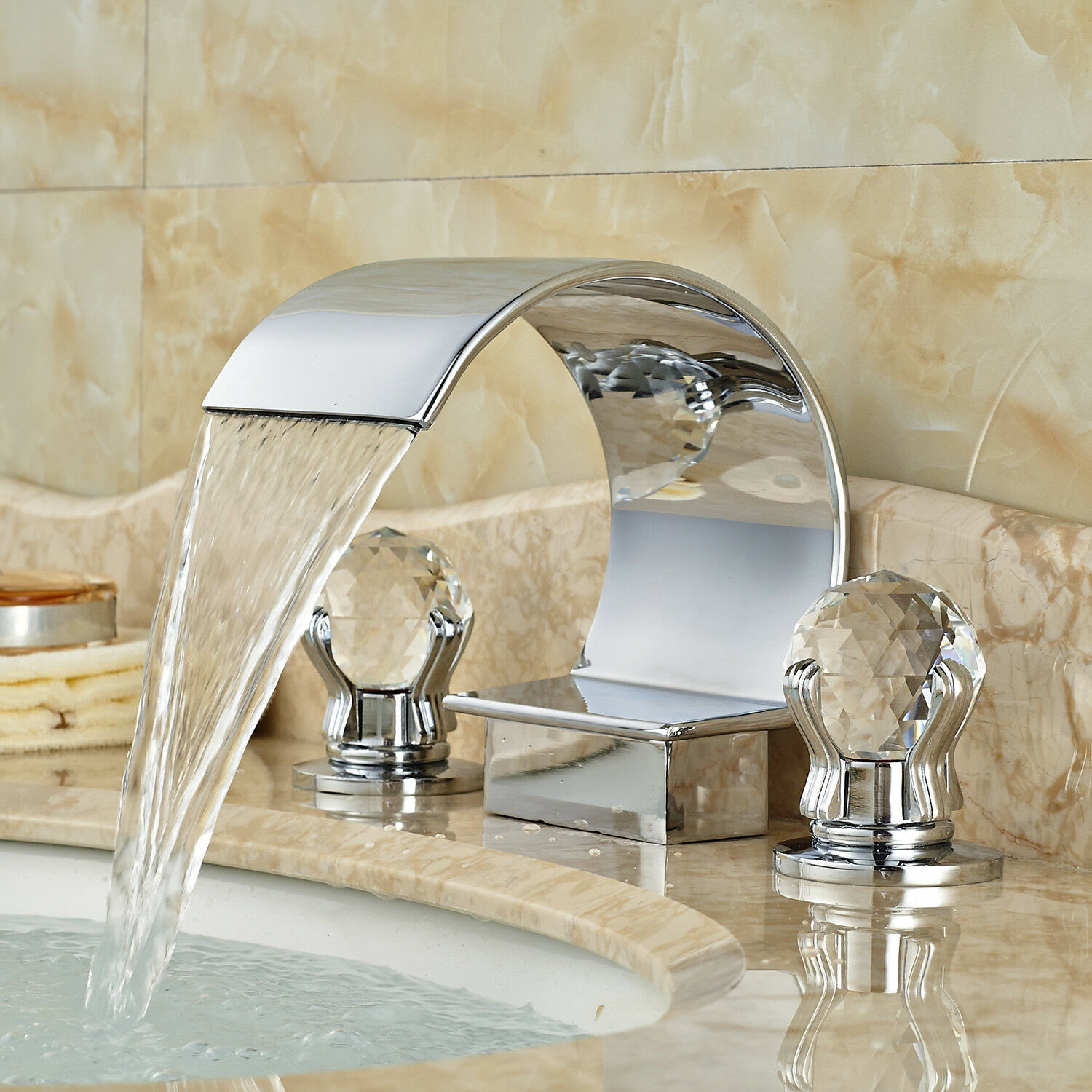 Chrome Widespread Home Faucets | eBay