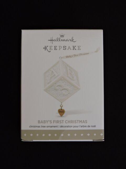hallmark keepsake ornament babys first christmas 2015 kegrize gift toy block new