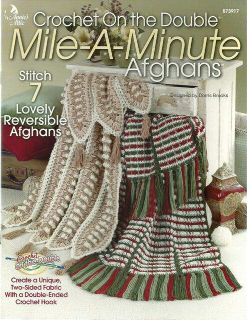 Mile A Minute Afghans Annies Attic Crochet Patterns On The Double