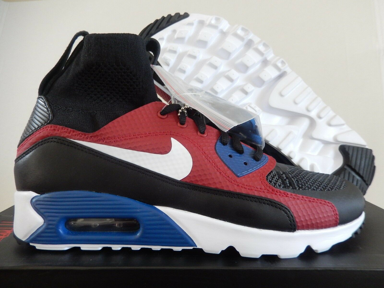 Mens Nike Air Max 90 Ultra Superfly RARE - 850613 001 - Black White Red Traine