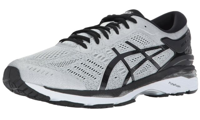 huge discount 9841c 0df2d ASICS GEL Kayano 24 Mens Gray Mesh Athletic Lace up Running Shoes 12 ...