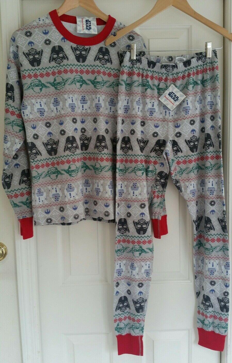 Hanna Andersson Star Wars Fair Isle Long Johns Pajama Set Men XS ...