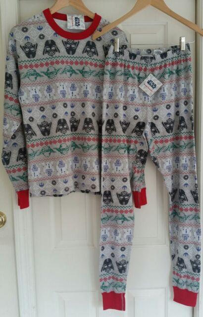 Hanna Andersson Star Wars Fair Isle Long Johns Pajama Set Men XS ...