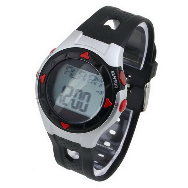 waterproof pulse heart monitor stop watch calories counter sports