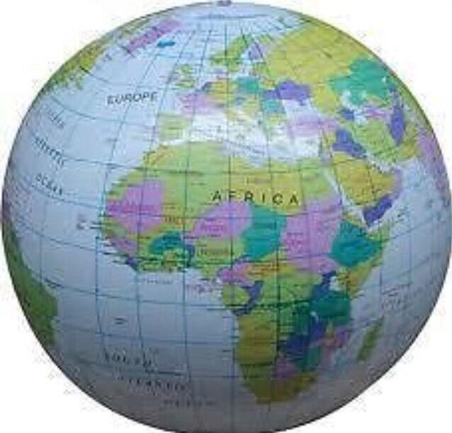 Inflatable globe 40 cm atlas world map earth beach ball uk seller inflatable globe 40 cm atlas world map earth beach ball uk seller gumiabroncs Images