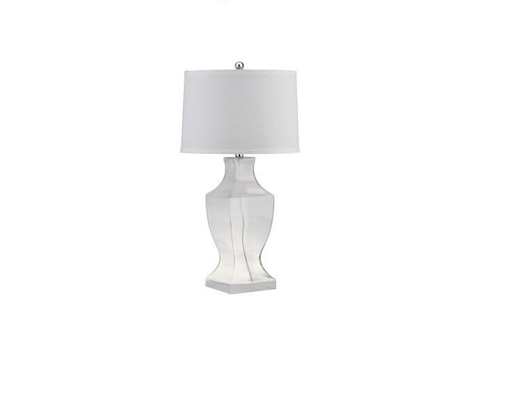 Safavieh lighting collection nina crystal column table lamp clear picture 1 of 4 aloadofball Choice Image
