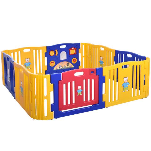 12 Portable Toddler Playpen Baby Outdoor Indoor Safety Folding Play Yard  Random