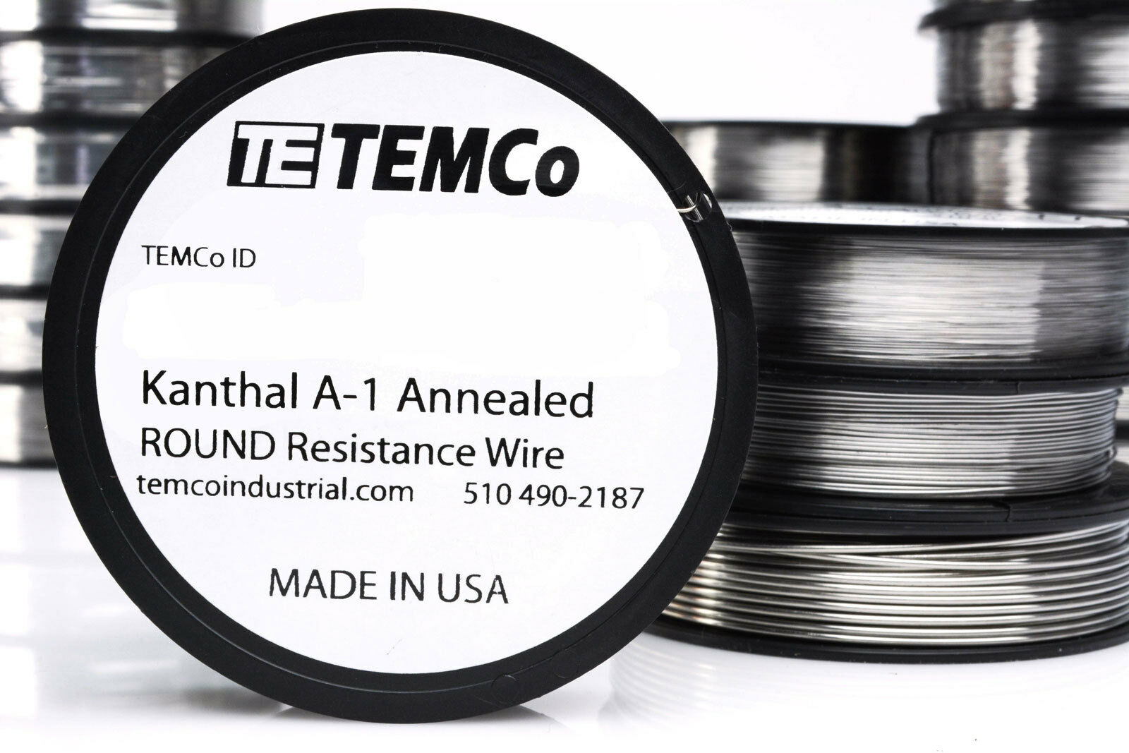 Temco Kanthal A1 Wire 18 Gauge 1 LB (253 Ft) Resistance AWG A-1 GA ...